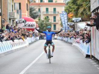 Moreno Moser arrivo Laigueglia 2018