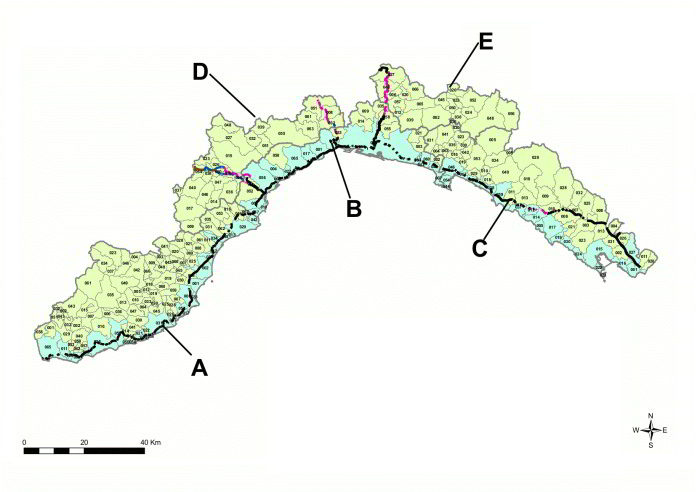 Zone Liguria Arpal