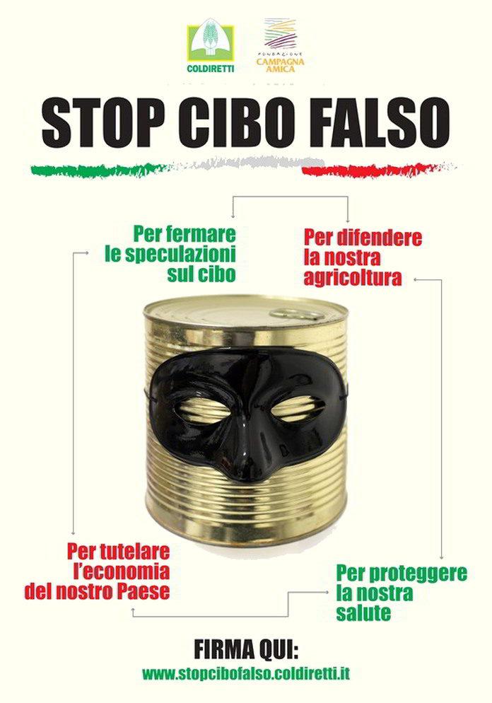 manifesto stop al cibo falso