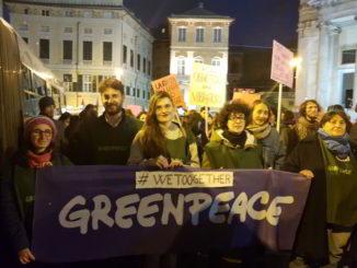 8 marzo 2018 Greenpeace Genova