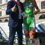 Piana con il vincitore Giulio Ciccone