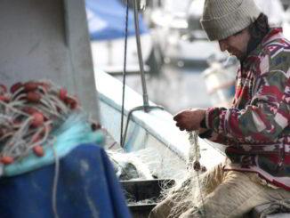 pescatore al lavoro