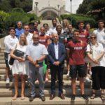 03 foto di gruppo atleti e Gaslini visita al Gaslni