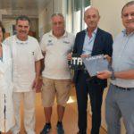 04 scambio doni presidente Pongiglione e commissario tecnico Nazionale Massimo Giuliani visita al Gaslni