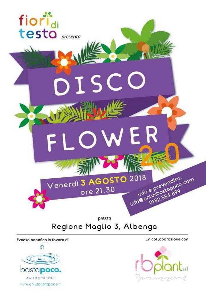 Disco Flower 3 agosto 2018