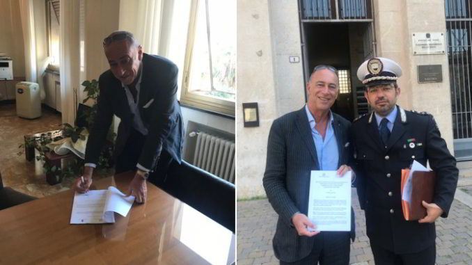 Marco Melgrati sindaco firma polizia locale Alassio