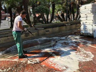 07 Piazza del popolo pulizia Albenga