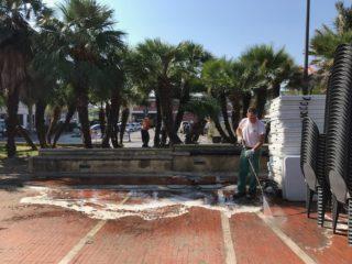 09 Piazza del popolo pulizia Albenga
