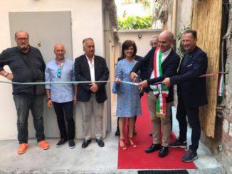 04 Teatro Ambra il momento del taglio del nastro Albenga 2018