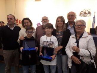 Emanuele Gerini e Dimitri Delfino con le loro famiglie