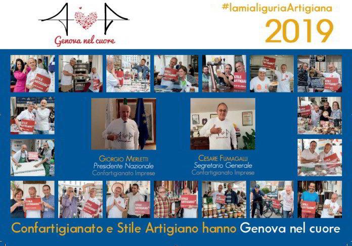 Genova nel cuore artigiano Copertina Calendario 2019