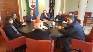 0125 incontro cardinale Bagnasco Toti Regione Liguria