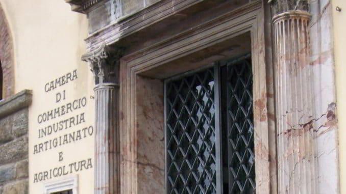 Entrata del Palazzo a Savona della Camera di Commercio Riviere di Liguria