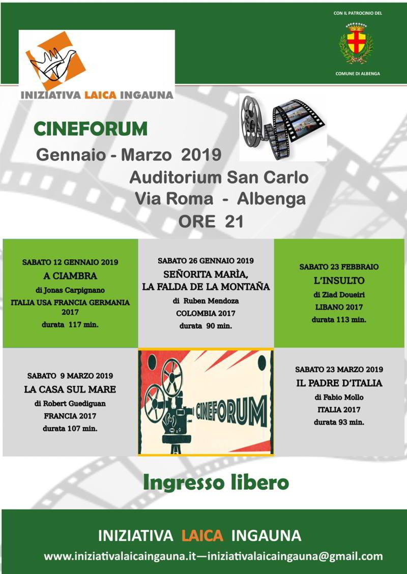 cineforum di Iniziativa Laica Ingauna 2019