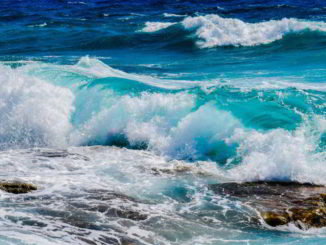 sulle onde del mare
