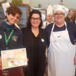 Agrichef Liguria le vincitrici Laura Russo e Brigitte Bruschi con Federica Crotti