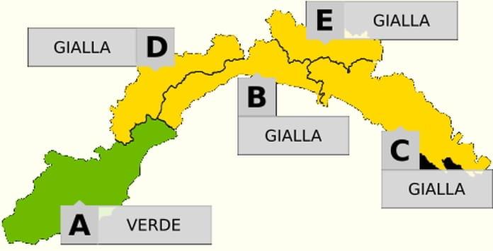 Allerta gialloverde in Liguria