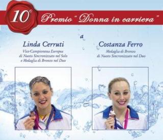 """Donna in Carriera"""", premio al duo d'oro del sincro Linda"""