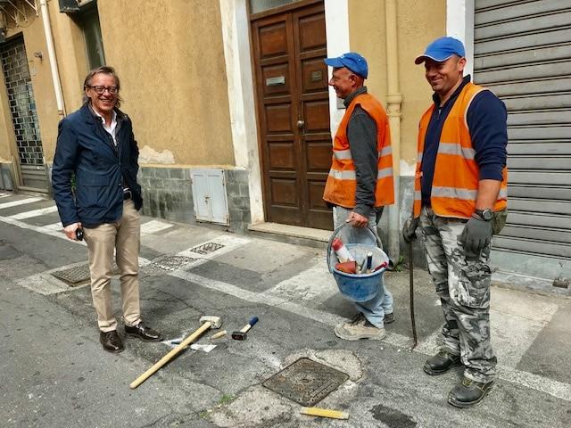 06 LAvori in Via Papa Giovanni Albenga