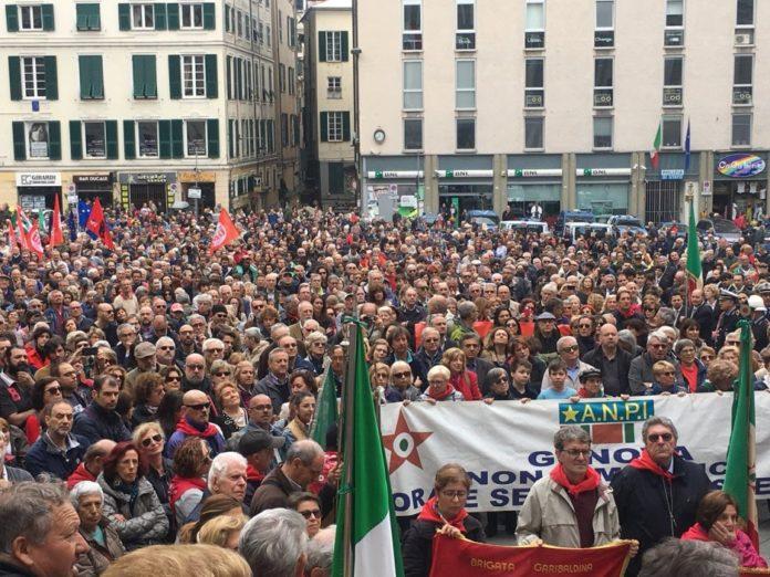 02 Celebrazioni 25 aprile 2019 presidente Toti a Genova