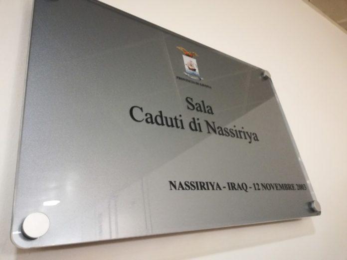 02 intitolazione Sala espositiva Provincia Savona ai Caduti di Nassiriya.
