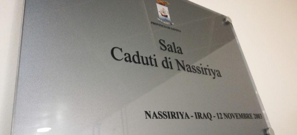 ntitolazione Sala espositiva Provincia Savona ai Caduti di Nassiriya.