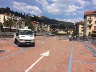 Parcheggio alla stazione di Alassio