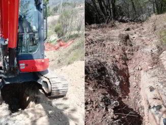 lavori acquedotto irriguo a Tovo San Giacomo