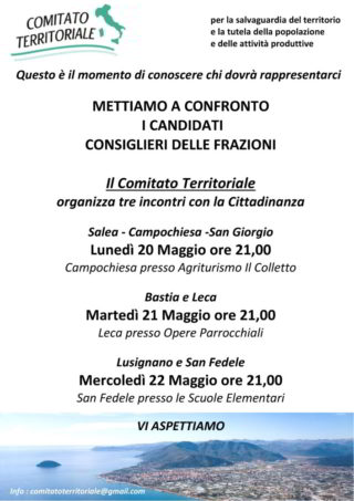 Elezioni Albenga incontri sulle frazioni Comitato Territoriale