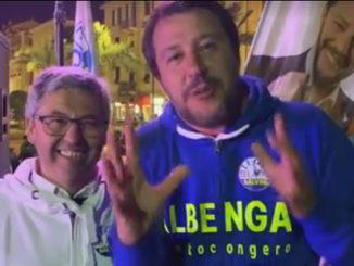 Gero Calleri e Matteo Salvini ad Albenga