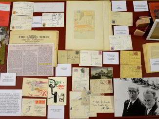 Libri e pubblicazioni di Sbarbaro esposti in mostra