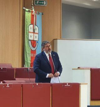 Angelo Vaccarezza in Consiglio regionale