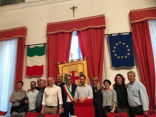 Consiglieri e sindaco Riccardo Tomatis Albenga
