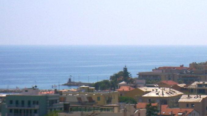 Visione panoramica dalla collina di Loano