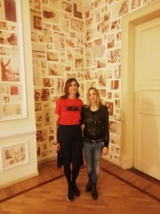 Valentina Ciarallo curatrice del Premio HDRA e Silvia Celeste Calcagno