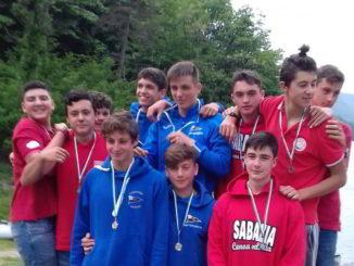 argento e bronzo al K4 1000 mt. ragazzi