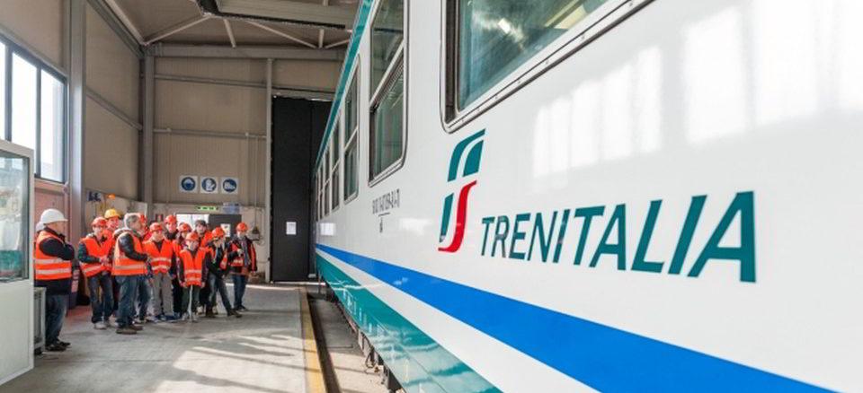Un vagone di Trenitalia