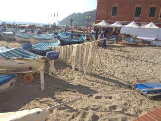 La spiaggia e le barche di Laigueglia