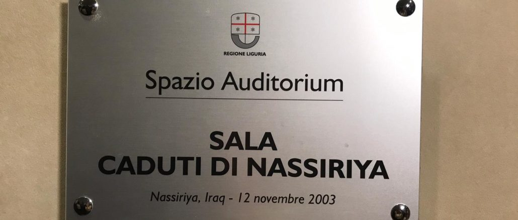 Regione Liguria - Sala Nassirya
