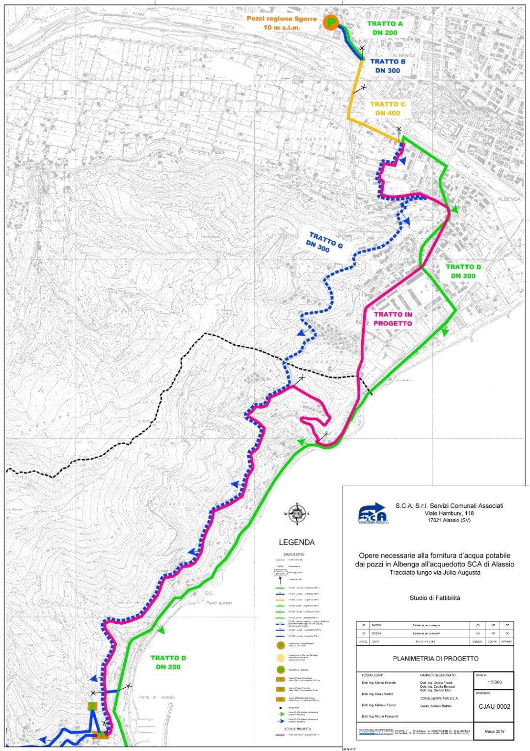 tracciato rete idrica