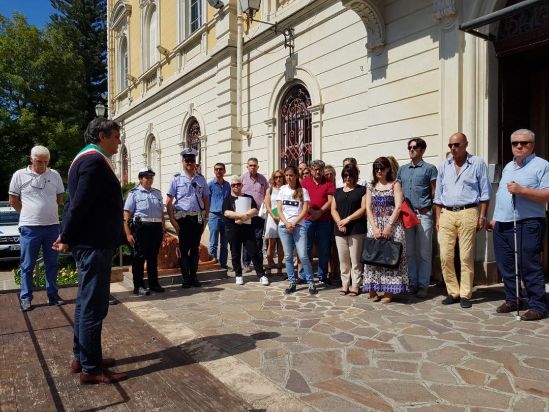 01 Commemorazione vittime crollo Ponte Morandi ad Alassio