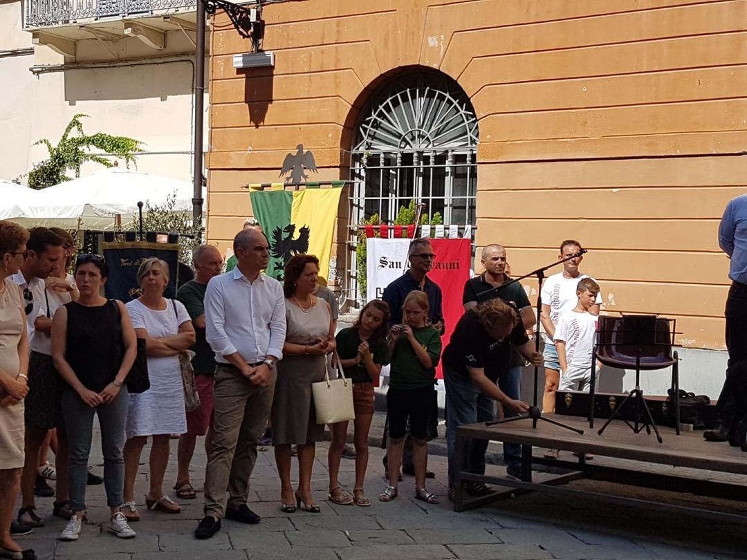 01 Commemorazione vittime crollo Ponte Morandi ad Albenga flash mob 1