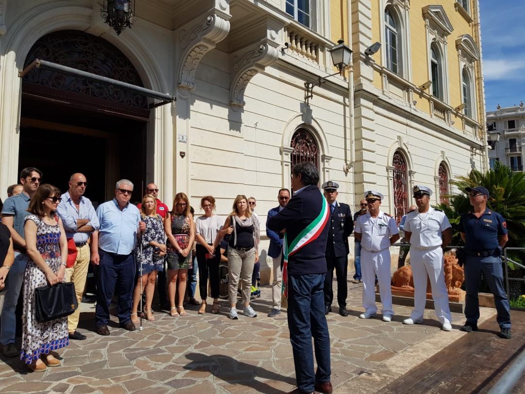 04 Commemorazione vittime crollo Ponte Morandi ad Alassio
