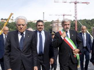Commemorazione vittime crollo Ponte Morandi Genova 14 8 2019