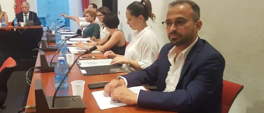 Diego Distilo in Consiglio comunale ad Albenga