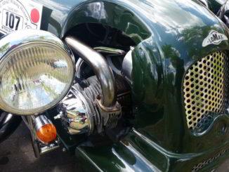 Particolare di un'auto d'epoca