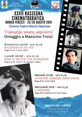 manifesto Rassegna Cinema su Troisi a Borgio Verezzi