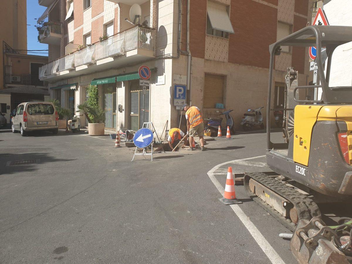 05 Lavori alla condotta di piazza SantAmbrogio ad Alassio