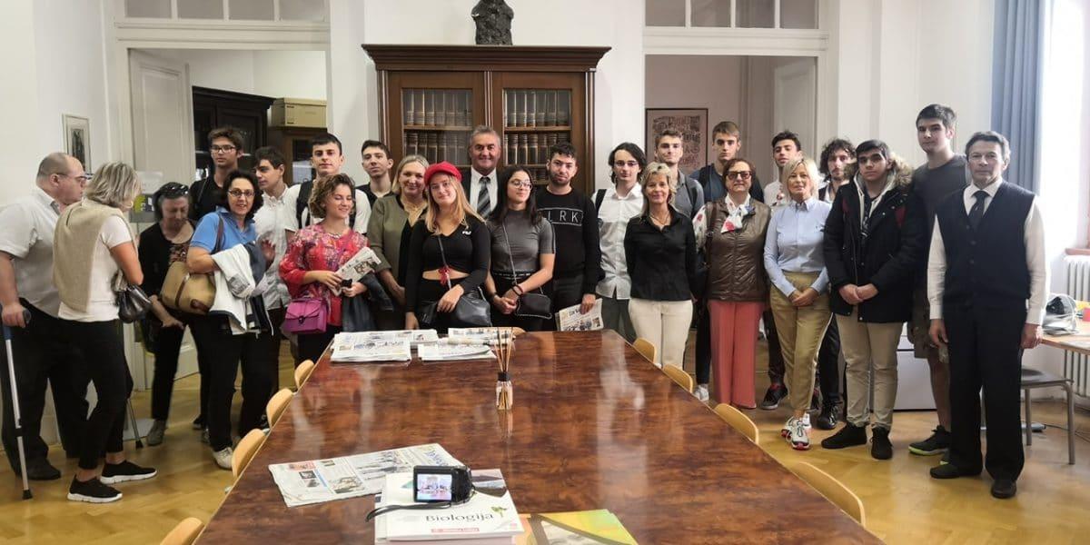 Delegazione ligure al liceo italiano di Fiume