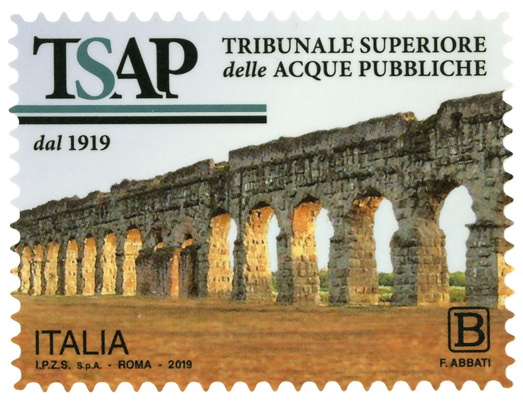 Francobollo centenario Tribunale Superiore delle Acque Pubbliche